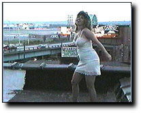 Dancing on rooftop in slip